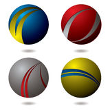 Slash icon. Collection of four round icons that appear hollow Royalty Free Stock Image