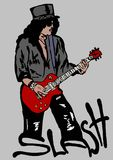 Slash. Image of Slash,famous guitarist of Guns and Roses Stock Images
