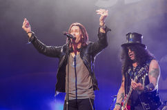 Slash and Myles Kennedy Stock Image