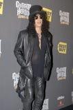 Slash on the red carpet. Velvet Revolver and former GnR guitarist Slash on the red carpet royalty free stock images