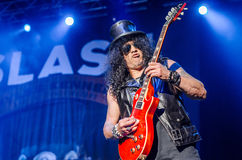 Slash with red guitar Royalty Free Stock Photography