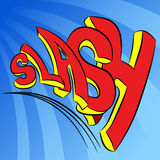 Slash Sound Effect Text. An image of a slash sound effect text Stock Photography