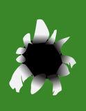 Slash vector illustration. On green Stock Images