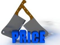 Slashed price Royalty Free Stock Images