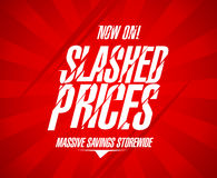 Slashed prices design. Stock Photo