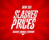 Slashed prices design. Stock Photo