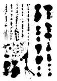 Slashes. Set of splash elements on paper Stock Images