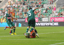 Slask Wroclaw vs Jagielionia Bialystok Stock Photo