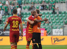 Slask Wroclaw vs Jagielionia Bialystok Stock Images