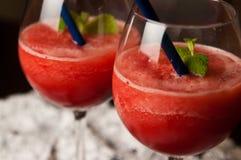 Slaskig drink för röd melon Arkivbild
