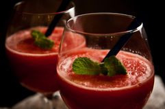 Slaskig drink för röd melon royaltyfri bild