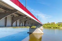 Slasko-Dabrowski桥梁在华沙,波兰 免版税库存照片