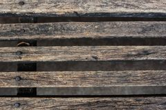 Slat brown color wood texture background. Royalty Free Stock Photography