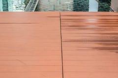 Slat floor at the swimming pool Stock Image