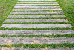 Slat with grass Stock Photos