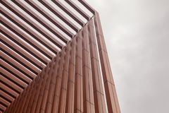 Slat wall of the  modern building. At thailand Royalty Free Stock Photos
