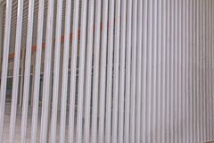 Slat wall of the  modern building. At thailand Royalty Free Stock Photography