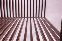 Slat wall of the  modern building. At thailand Stock Image