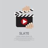 Slate. Hand Holding A Slate Vector Illustration Stock Photos