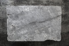 Slate Background. Gray slate over dark marble. Overhead view Stock Photography