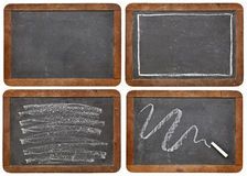 Slate blackboard and chalk Royalty Free Stock Photo