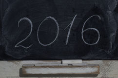Slate blackboard with the inscription 2016 Stock Image
