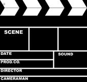 Slate Board. Isolated  black retro Slate Board for sinema Stock Images