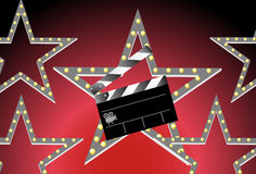 Slate Board with Stars Royalty Free Stock Images