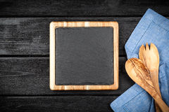 Slate board in a wooden frame Royalty Free Stock Photos