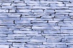 Slate brick wall Royalty Free Stock Photos