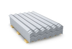 Slate. Building material, roof covering. 3D illustration Royalty Free Stock Photo