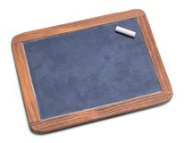 Slate Chalkboard with Chalk. School Slate Chalk Board With Chalk  Isolated on a White Background Stock Images