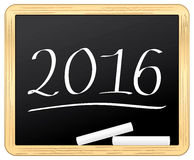2016 slate chalked. New year symbol icon Stock Photos