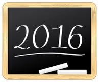 2016 slate chalked. Stock Photos