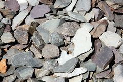 Slate chippings. Background of slate chippings which are often used in landscaping stock photos