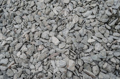 Slate chippings. Detail of Welsh slate chippings suitable for background or wallpaper use royalty free stock photography