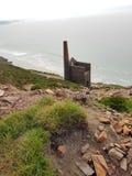 Slate cliff edge tin mine royalty free stock image