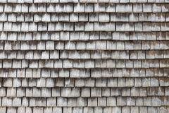 Slate covered wooden wall in Honfleur, France Stock Photo