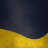 Slate or dark navy blue background with gold trim design Stock Images