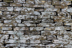 Slate, dry stone wall, texture, background. Royalty Free Stock Photography