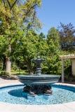 Slate Fountain in Public Garden Stock Images