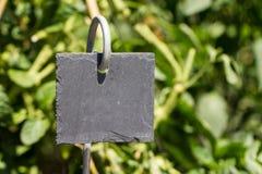 Slate garden label Stock Image