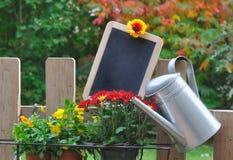 Slate in garden for message Stock Image