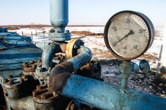 Slate gas or oil equipment Royalty Free Stock Image