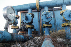 Slate gas or oil equipment Stock Photo