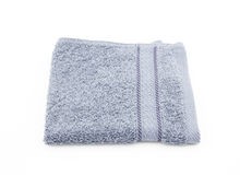 Slate gray towel on white background Royalty Free Stock Image