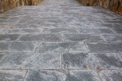 Slate grey and black paving or walk way texture Stock Images