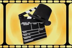 Slate and hat on white background Royalty Free Stock Photo