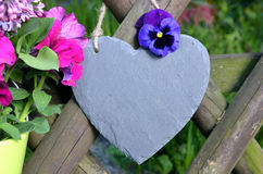 Slate Heart Garden Decoration Royalty Free Stock Images