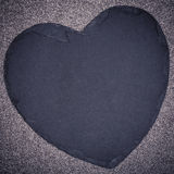 Slate heart Stock Photography